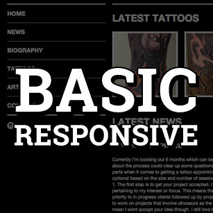 Basic Responsive Website Sale
