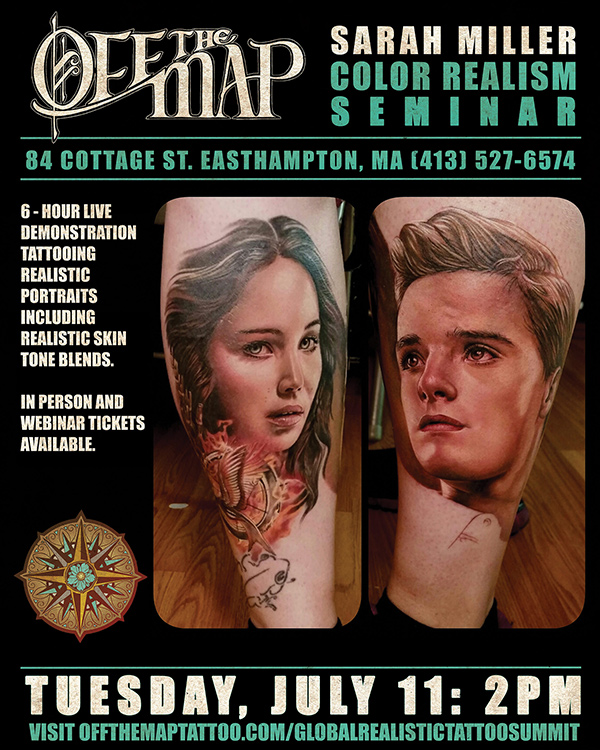 Sarah Miller Webinar Tattooing realistic portrait